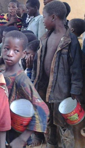 straatkindeen op feest